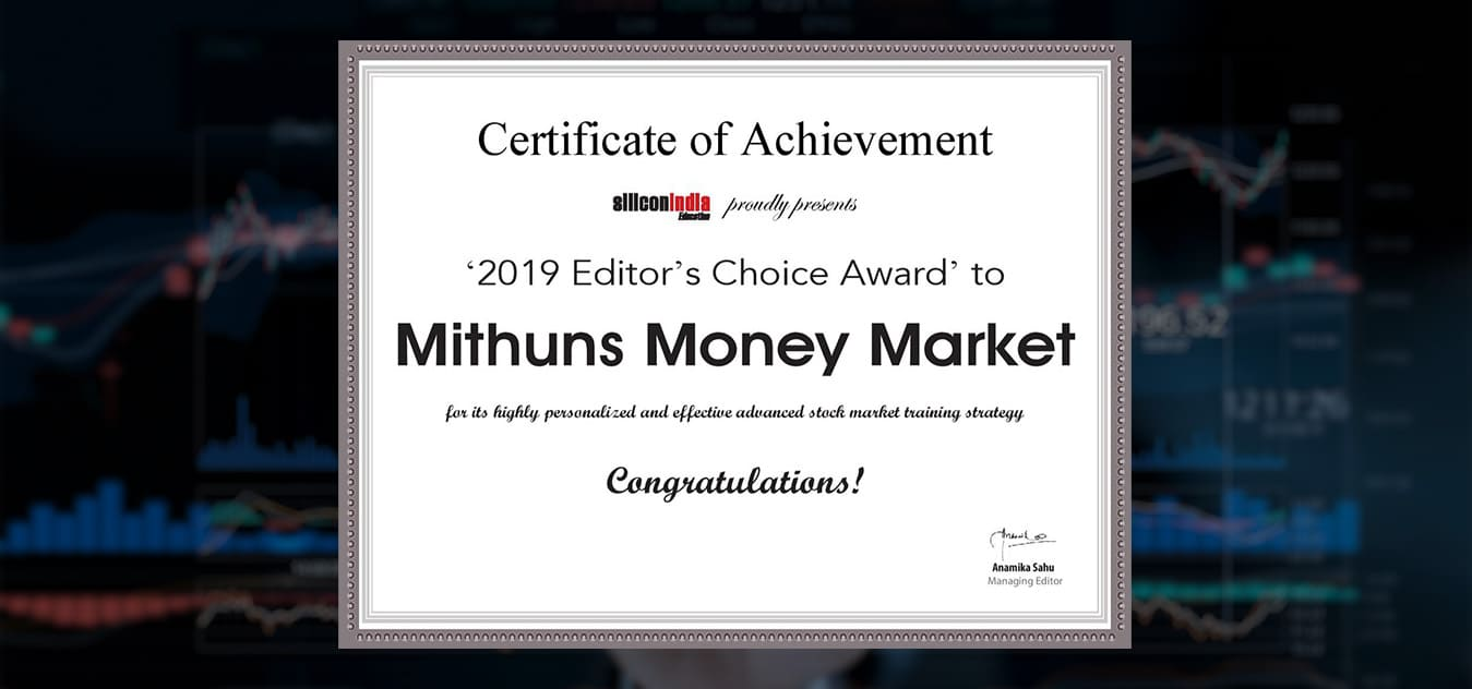Certificate of achievement for the best forex trading signals provider